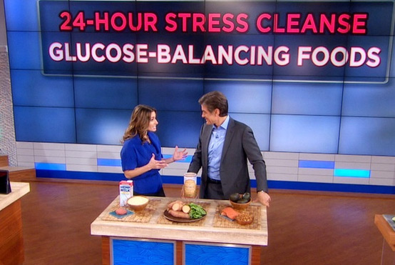 Mitzi on The Dr. Oz Show sharing her top glucose balancing foods.