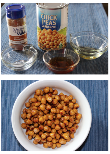 Honey Cinnamon Roasted Chickpeas: Only 27 cents per serving!