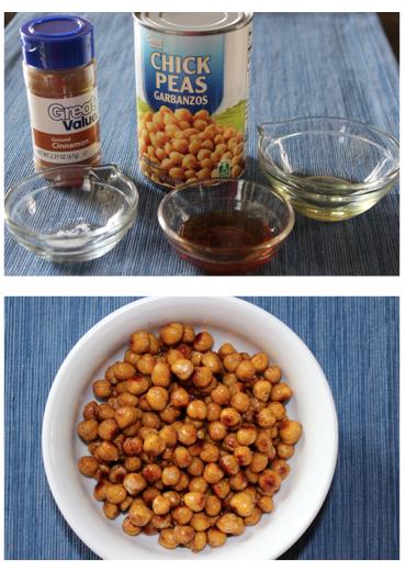 Honey Cinnamon Roasted Chickpeas - Mitzi Dulan, America's Nutrition ...