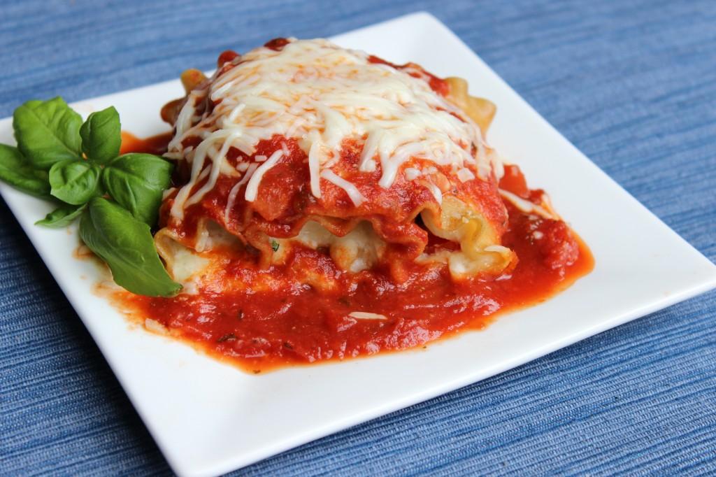 Perfectly portioned Caprese Lasagna Rolls Ups.