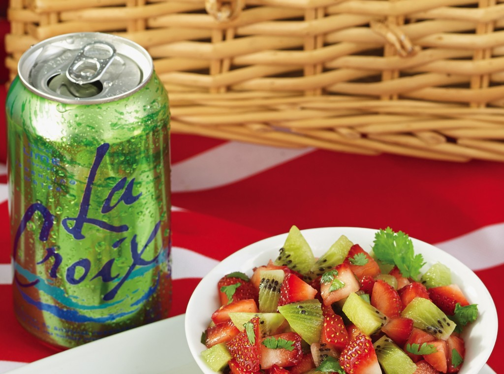 Strawberry Salsa with LaCroix Sparkling Water