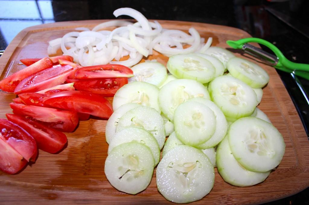 Super quick prep for salad.