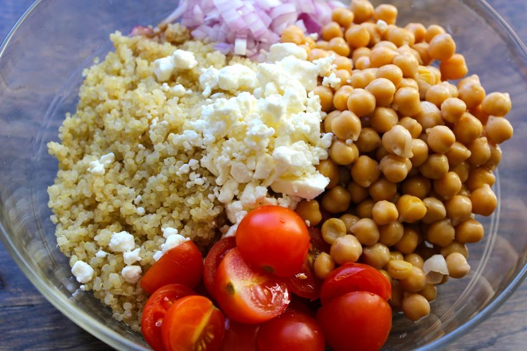 Super simple and delicious quinoa salad.