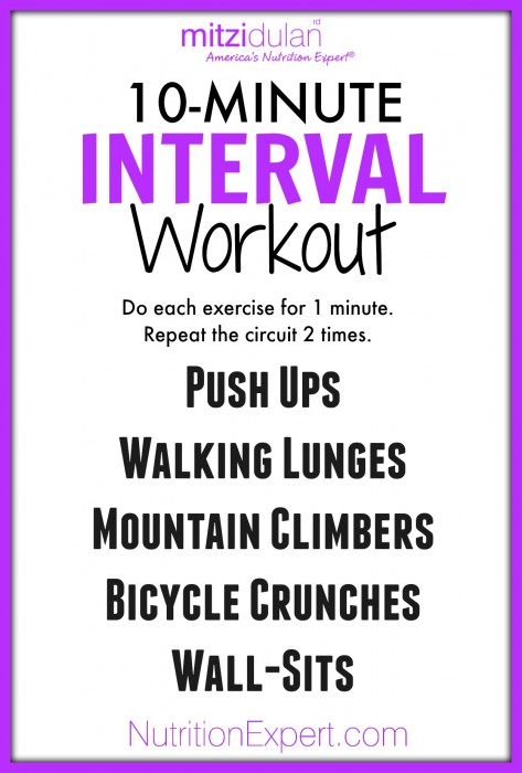 10-minute interval workout