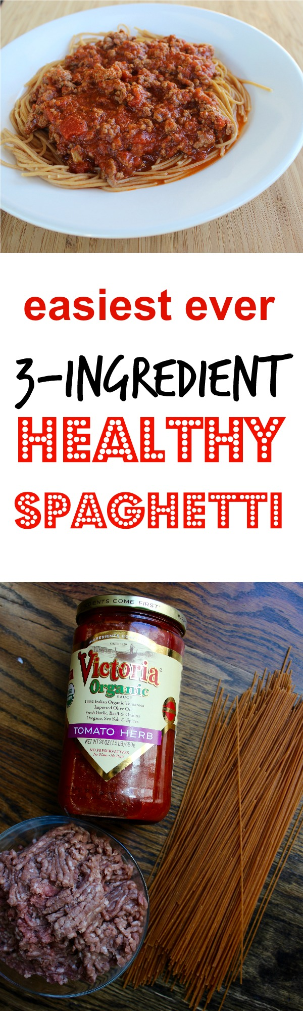 easiest ever 3 ingredient healthy spaghetti