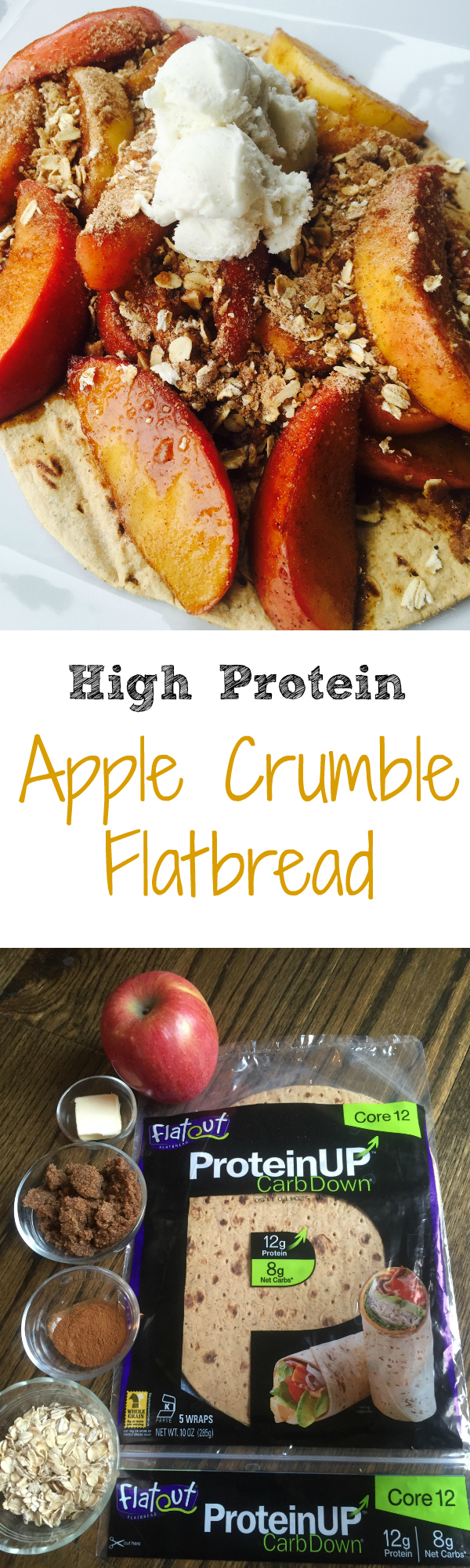 Apple Crumble Flatbread