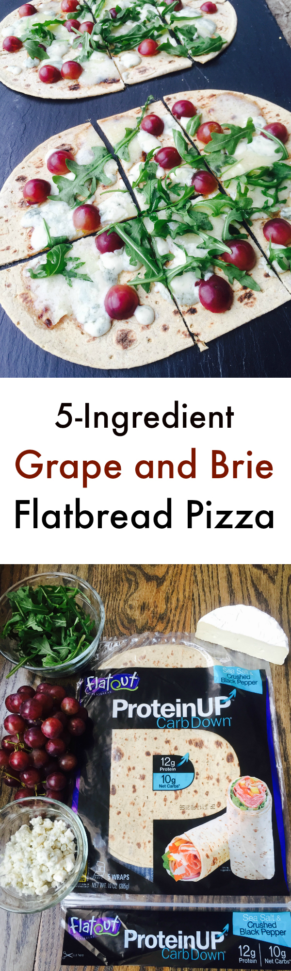 Grape and Brie Flatbread Pizza