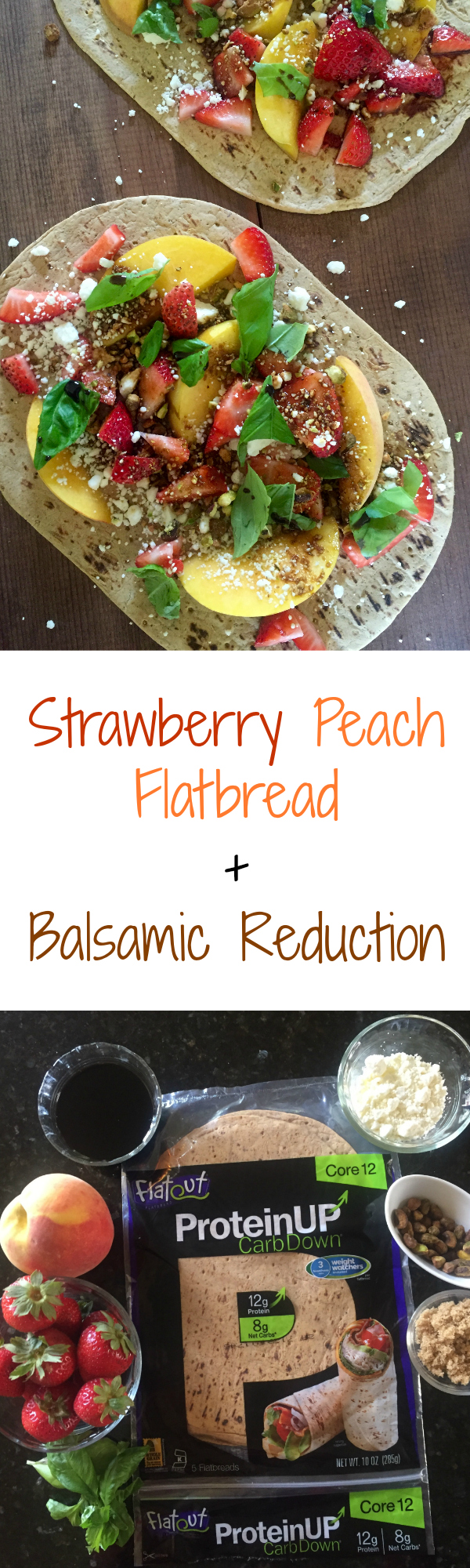 Strawberry Peach Flatbread